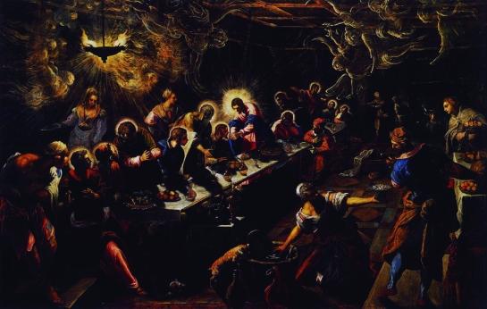 La última cena Tintoretto San Giorgio Maggiore, Venecia
